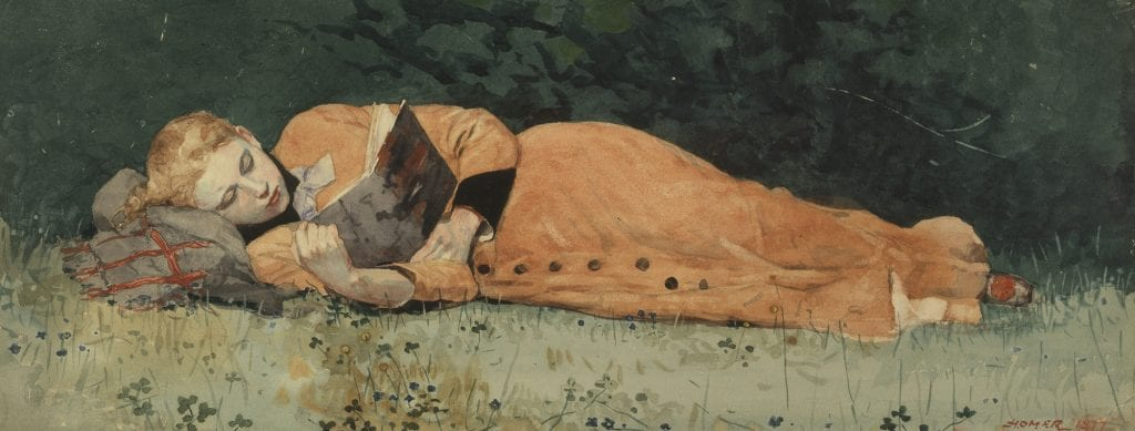 The New Novel painting by Winslow Homer 1987