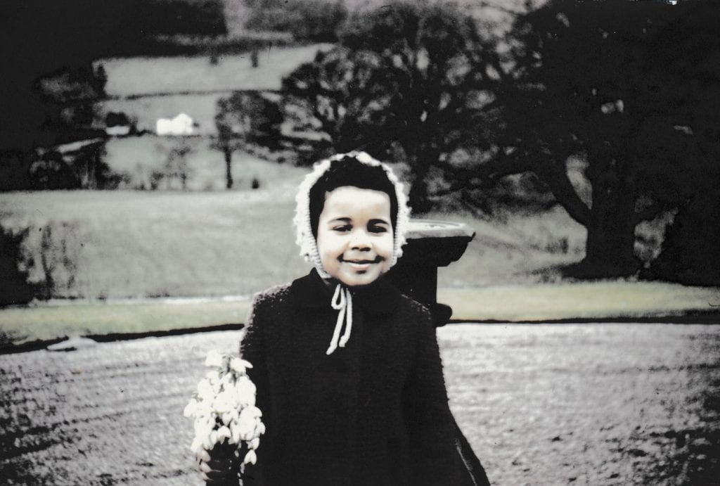 Elly as a child in Somerset