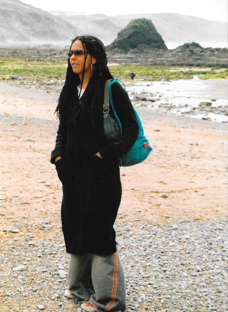 Louisa on a Devon beach