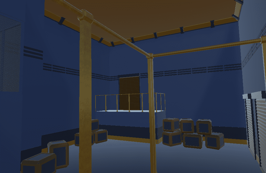 A prototype room created with the test content set