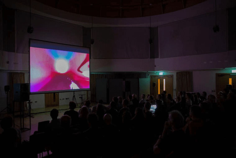 Fig 1. Surround sound performance of Across Voids at the University of Birmingham