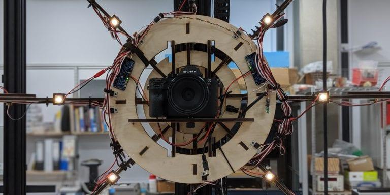 Prototype 3D scanner.