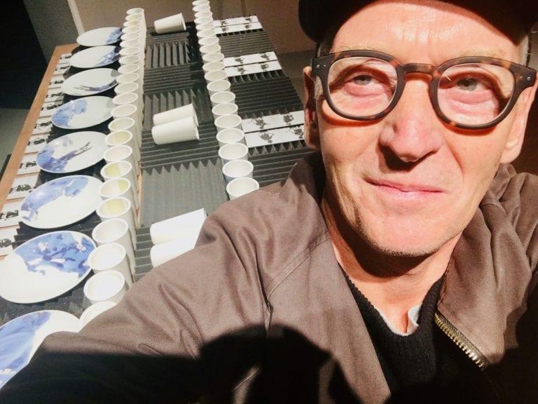Pete Quinn Davis takes selfie wearing glasses.