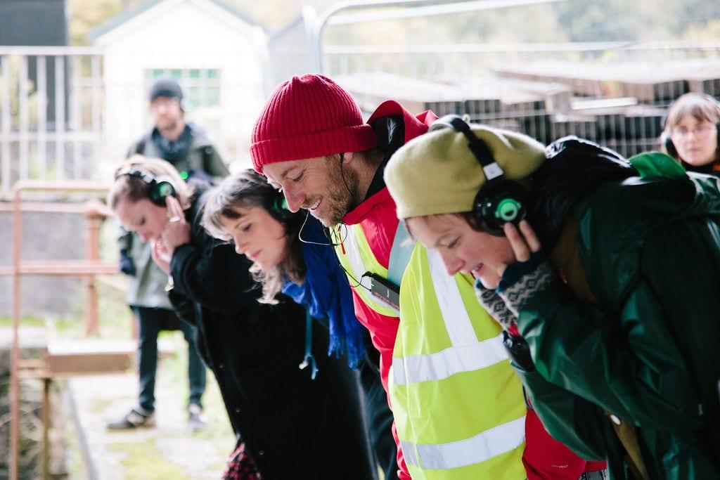 Deep Listening Walk by Kathy Hinde at Bristol Cumberland Basin for Control Shift Festival, 2020. Photo by Ibi Feher